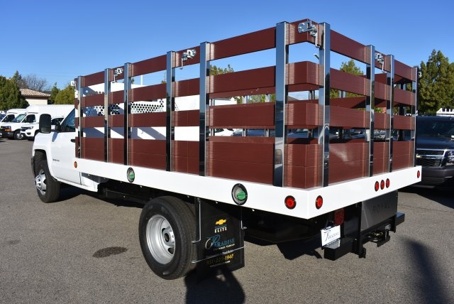 2018 Silverado 3500 Regular Cab DRW 4x2,  Royal Flat/Stake Bed #M18404 - photo 7