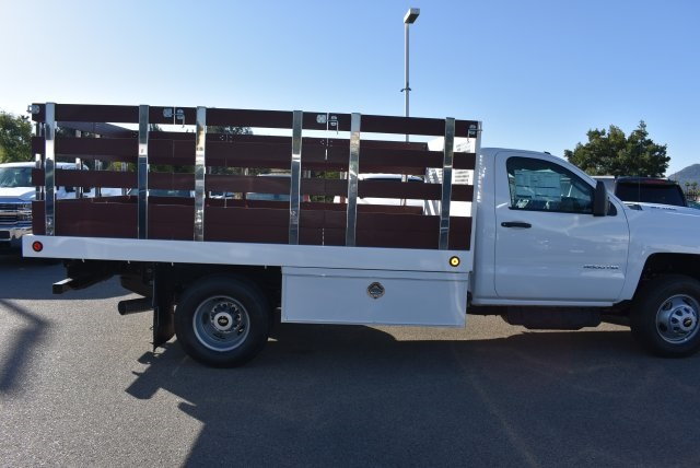 2018 Silverado 3500 Regular Cab DRW 4x2,  Royal Flat/Stake Bed #M18404 - photo 9