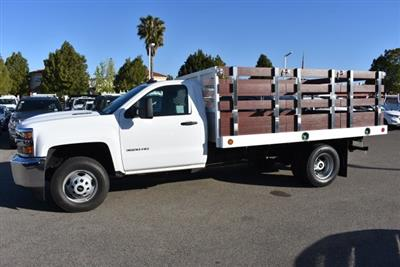 2018 Silverado 3500 Regular Cab DRW 4x2,  Royal Stake Bed Flat/Stake Bed #M18404 - photo 6