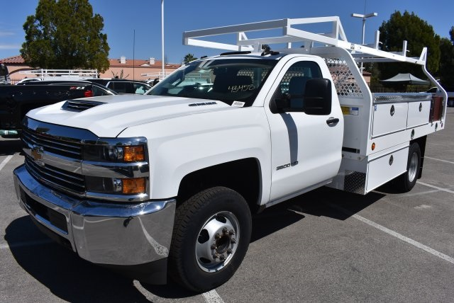 2018 Silverado 3500 Regular Cab DRW 4x2,  Royal Contractor Body #M18432 - photo 5