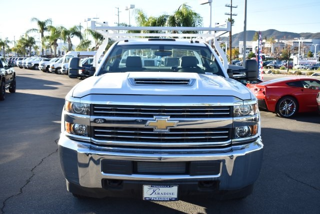2018 Silverado 3500 Regular Cab DRW 4x2,  Royal Flat/Stake Bed #M18439 - photo 4