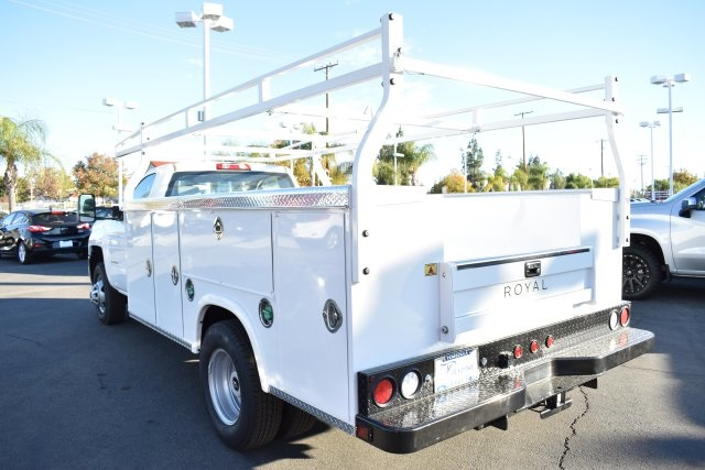 2018 Silverado 3500 Regular Cab DRW 4x2,  Royal Flat/Stake Bed #M18439 - photo 5