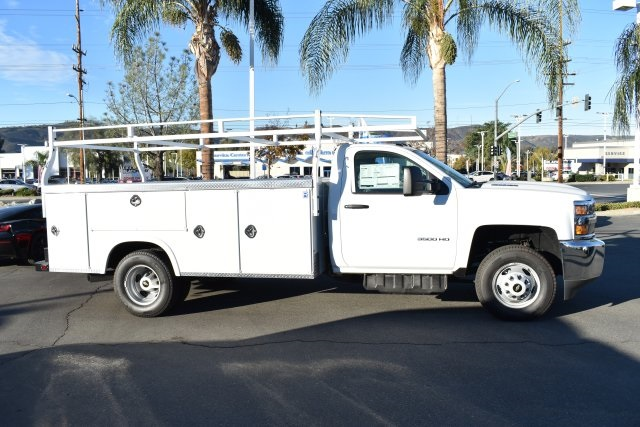 2018 Silverado 3500 Regular Cab DRW 4x2,  Royal Flat/Stake Bed #M18439 - photo 7