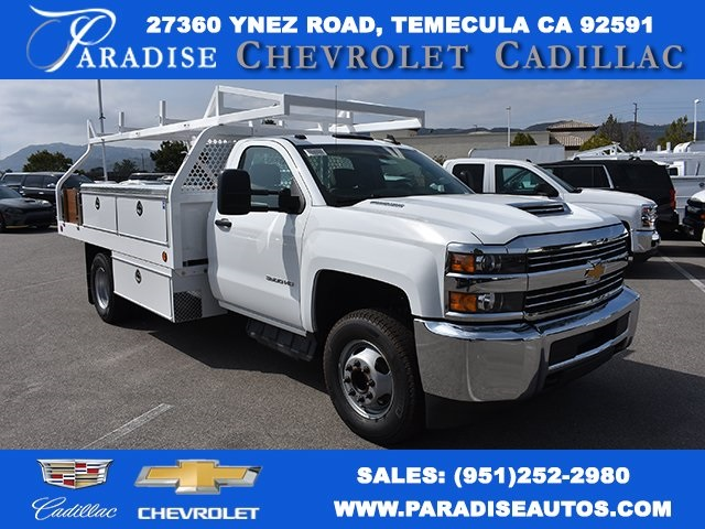 2018 Silverado 3500 Regular Cab DRW,  Royal Contractor Bodies Contractor Body #M18456 - photo 1