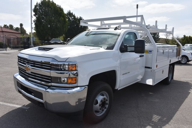 2018 Silverado 3500 Regular Cab DRW 4x2,  Royal Contractor Body #M18456 - photo 4