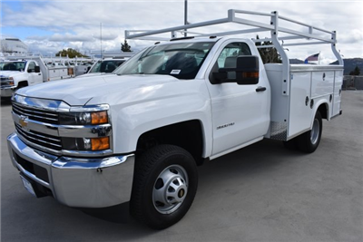 2018 Silverado 3500 Regular Cab DRW, Royal Service Bodies Utility #M18481 - photo 5