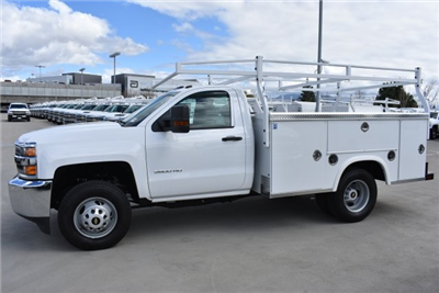 2018 Silverado 3500 Regular Cab DRW, Royal Service Bodies Utility #M18481 - photo 6