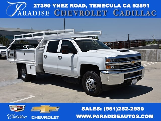 2018 Silverado 3500 Crew Cab DRW 4x2,  Martin's Quality Truck Body, Inc. Contractor Body #M18510 - photo 1