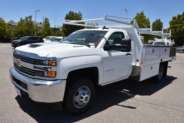 2018 Silverado 3500 Regular Cab DRW 4x2,  Harbor Contractor Body #M18526 - photo 5