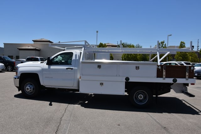 2018 Silverado 3500 Regular Cab DRW 4x2,  Harbor Contractor Body #M18526 - photo 6