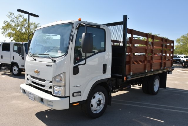 2018 LCF 4500 Regular Cab 4x2,  Martin's Quality Truck Body Flat/Stake Bed #M18618 - photo 5