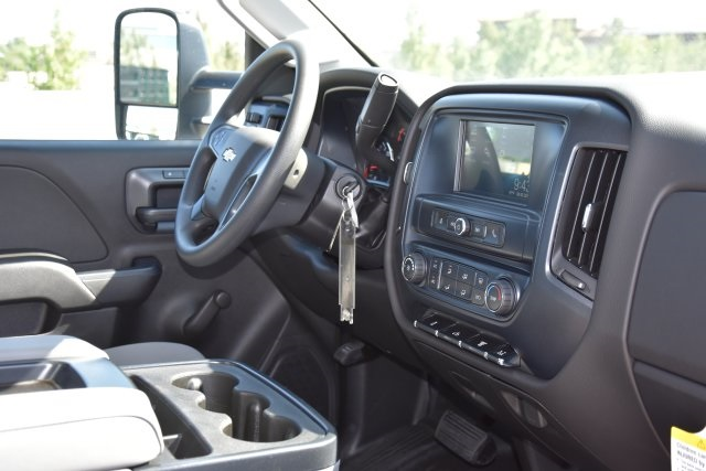 2018 Silverado 3500 Regular Cab DRW 4x2,  Harbor Black Boss Stake Bed Flat/Stake Bed #M18677 - photo 10