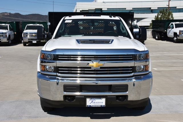 2018 Silverado 3500 Regular Cab DRW 4x2,  Harbor Black Boss Stake Bed Flat/Stake Bed #M18677 - photo 4