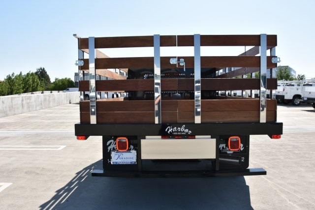 2018 Silverado 3500 Regular Cab DRW 4x2,  Harbor Black Boss Stake Bed Flat/Stake Bed #M18677 - photo 8