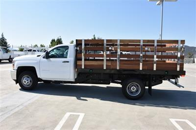 2018 Silverado 3500 Regular Cab DRW 4x2,  Harbor Black Boss Stake Bed Flat/Stake Bed #M18677 - photo 6