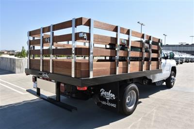 2018 Silverado 3500 Regular Cab DRW 4x2,  Harbor Black Boss Stake Bed Flat/Stake Bed #M18677 - photo 2