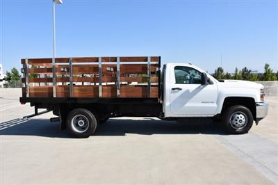 2018 Silverado 3500 Regular Cab DRW 4x2,  Harbor Black Boss Stake Bed Flat/Stake Bed #M18677 - photo 9