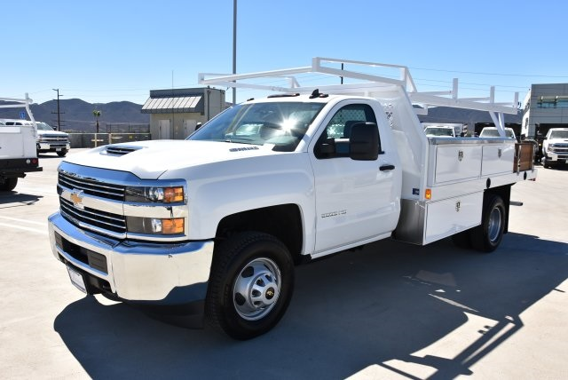 2018 Silverado 3500 Regular Cab DRW 4x2,  Harbor Contractor Body #M18771 - photo 5