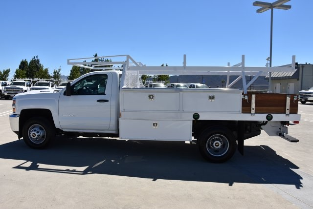 2018 Silverado 3500 Regular Cab DRW 4x2,  Harbor Contractor Body #M18771 - photo 6