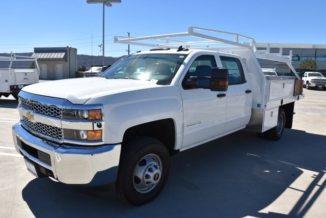 2019 Silverado 3500 Crew Cab DRW 4x2,  Harbor Contractor Body #M19009 - photo 5