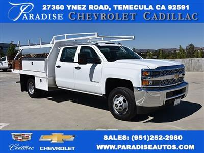 2019 Silverado 3500 Crew Cab DRW 4x2,  Harbor Standard Contractor Body #M19009 - photo 1