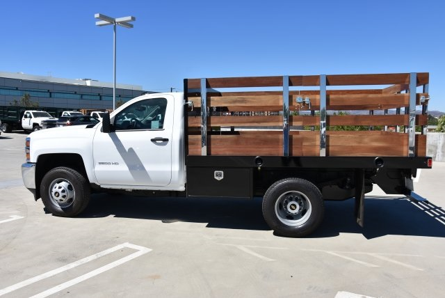 2019 Silverado 3500 Regular Cab DRW 4x2,  Harbor Flat/Stake Bed #M19063 - photo 5