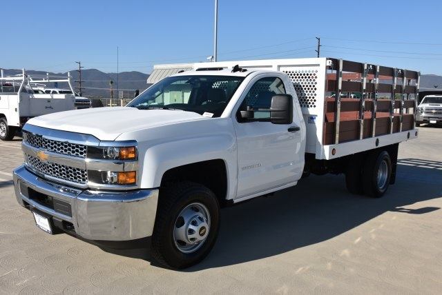 2019 Silverado 3500 Regular Cab DRW 4x2,  Royal Flat/Stake Bed #M19141 - photo 5