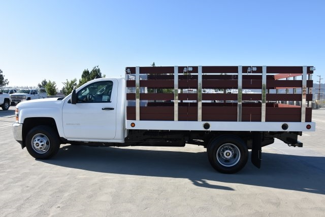 2019 Silverado 3500 Regular Cab DRW 4x2,  Royal Flat/Stake Bed #M19141 - photo 6