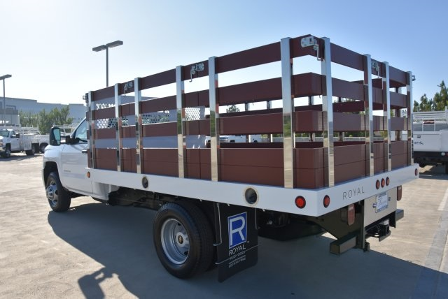 2019 Silverado 3500 Regular Cab DRW 4x2,  Royal Flat/Stake Bed #M19141 - photo 7
