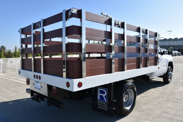 2019 Silverado 3500 Regular Cab DRW 4x2,  Royal Flat/Stake Bed #M19141 - photo 2