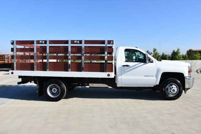 2019 Silverado 3500 Regular Cab DRW 4x2,  Royal Flat/Stake Bed #M19141 - photo 9