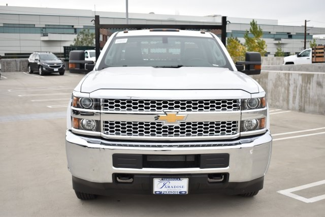 2019 Silverado 3500 Crew Cab DRW 4x2,  Flat/Stake Bed #M19487 - photo 4