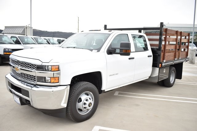2019 Silverado 3500 Crew Cab DRW 4x2,  Flat/Stake Bed #M19487 - photo 5