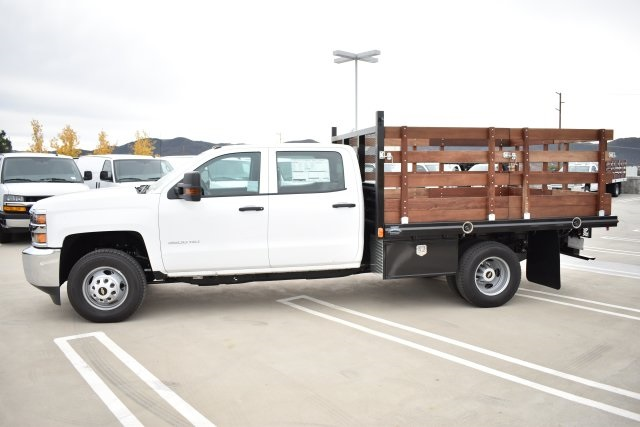 2019 Silverado 3500 Crew Cab DRW 4x2,  Flat/Stake Bed #M19487 - photo 6