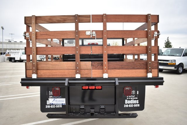 2019 Silverado 3500 Crew Cab DRW 4x2,  Flat/Stake Bed #M19487 - photo 8