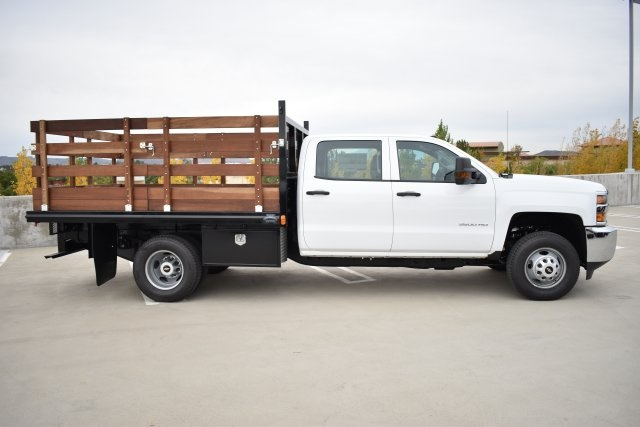 2019 Silverado 3500 Crew Cab DRW 4x2,  Flat/Stake Bed #M19487 - photo 9