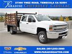2019 Silverado 3500 Crew Cab DRW 4x2,  Flat/Stake Bed #M19487 - photo 1