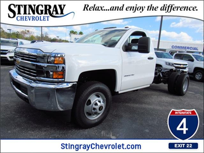 2018 Silverado 3500 Regular Cab DRW 4x4,  Cab Chassis #JF175617 - photo 1