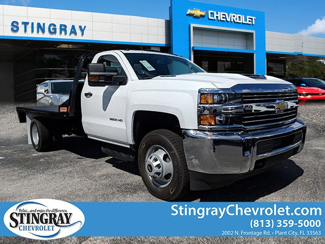 2018 Silverado 3500 Regular Cab DRW 4x4,  Platform Body #JF214199 - photo 3