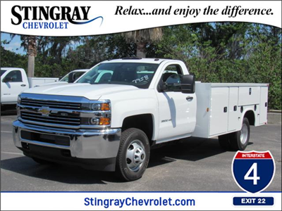 2018 Silverado 3500 Regular Cab DRW,  Knapheide Standard Service Body #JF227958 - photo 1