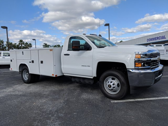 2018 Silverado 3500 Regular Cab DRW 4x2,  Reading Service Body #JF237324 - photo 4