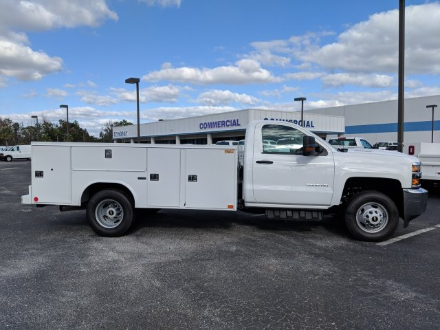 2018 Silverado 3500 Regular Cab DRW 4x2,  Reading Service Body #JF237324 - photo 3