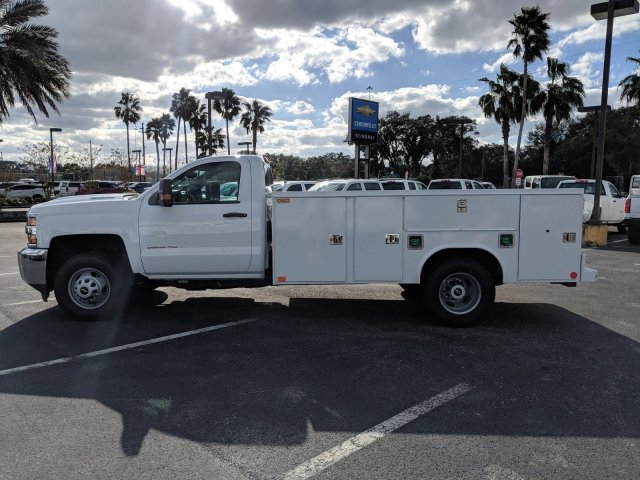 2018 Silverado 3500 Regular Cab DRW 4x2,  Reading Service Body #JF237324 - photo 7