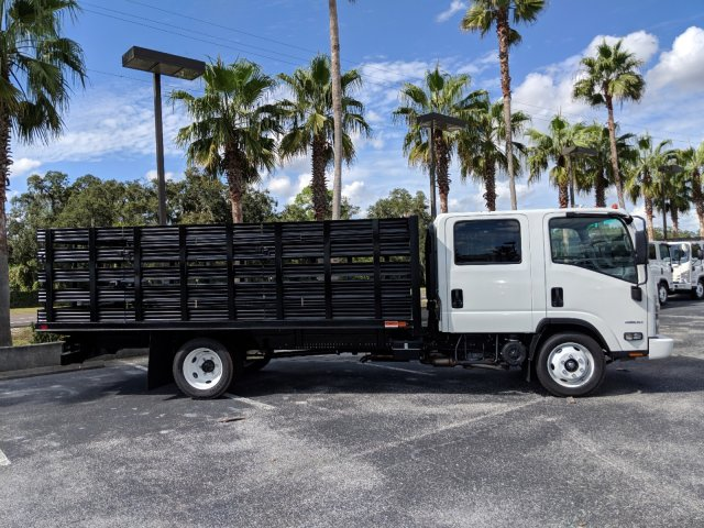 2018 LCF 4500 Crew Cab,  Action Fabrication Stake Bed #JS805874 - photo 4