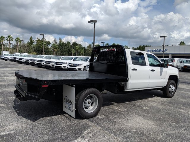 2019 Silverado 3500 Crew Cab DRW 4x4,  Platform Body #KF111048 - photo 2
