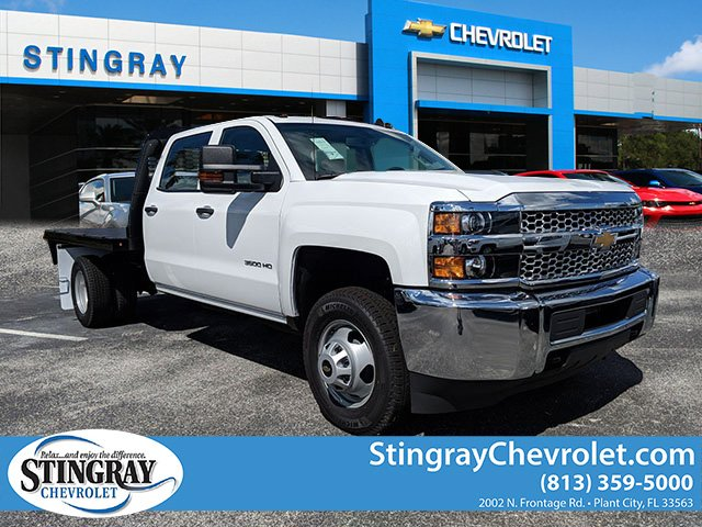 2019 Silverado 3500 Crew Cab DRW 4x2,  Platform Body #KF116313 - photo 3