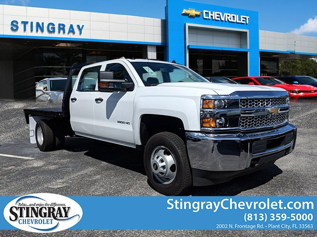 2019 Silverado 3500 Crew Cab DRW 4x2,  Platform Body #KF116642 - photo 3