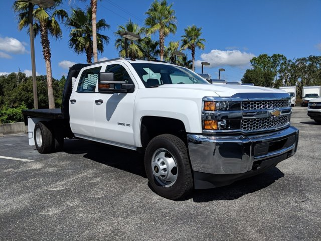 2019 Silverado 3500 Crew Cab DRW 4x2,  Platform Body #KF116642 - photo 4