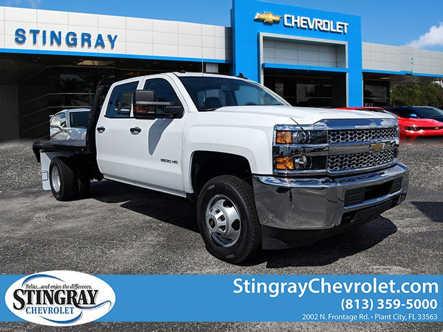 2019 Silverado 3500 Crew Cab DRW 4x2,  Platform Body #KF117668 - photo 3