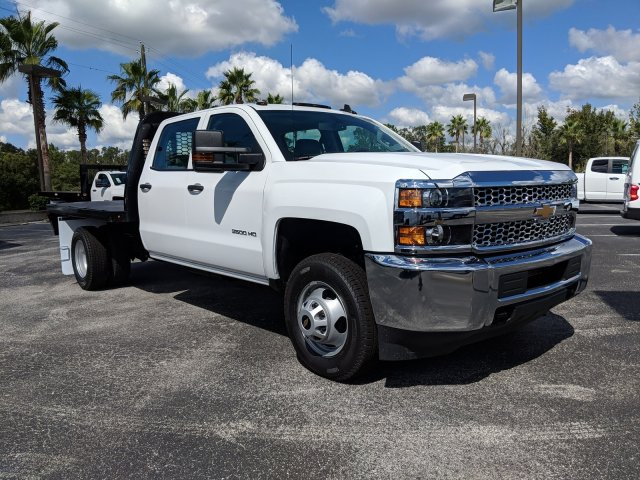 2019 Silverado 3500 Crew Cab DRW 4x2,  Platform Body #KF117668 - photo 4